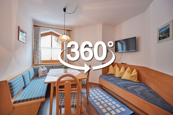 360° Foto von Küche in Appartements Sieberer
